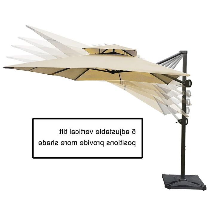 2018 Fazeley  Rectangular Cantilever Umbrellas In Fazeley 9' X 12' Rectangular Cantilever Umbrella (View 4 of 25)