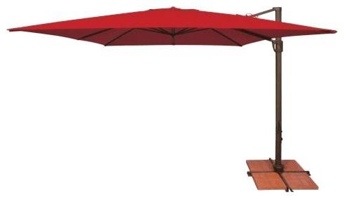 2018 Free Standing Umbrella Garden Free Standing Umbrella Base Weights Inside Trotman Cantilever Umbrellas (View 8 of 25)