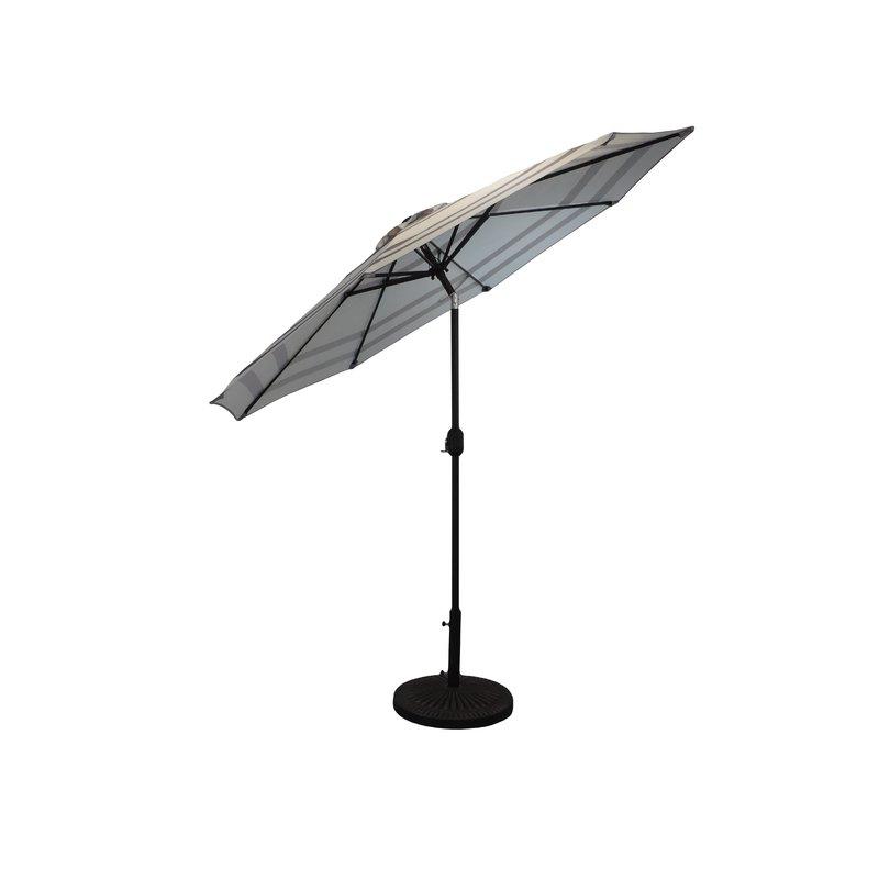 2018 Frome Market Umbrellas With Regard To Manila Striped Patio 9' Market Umbrella (View 9 of 25)