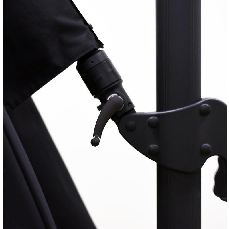 2018 Grote Liberty Aluminum Square Cantilever Umbrellas Intended For Grote Liberty Aluminum Square Cantilever Umbrella (View 2 of 25)
