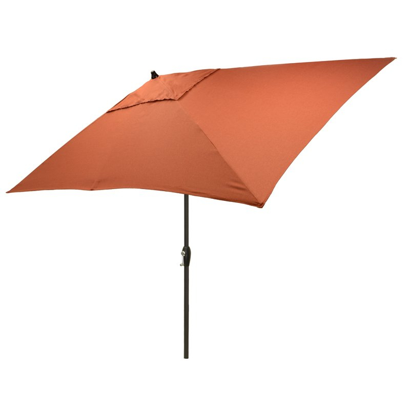 2018 Hulme Solid 6.5' X 10' Rectangular Market Umbrella in Solid Market Umbrellas