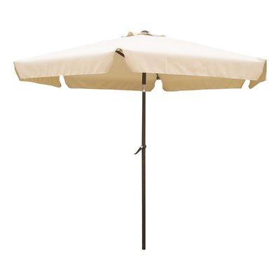 2018 Hyperion Market Umbrellas Inside Brayden Studio Hyperion 8' Beach Umbrella Fabric: Beige (View 6 of 25)