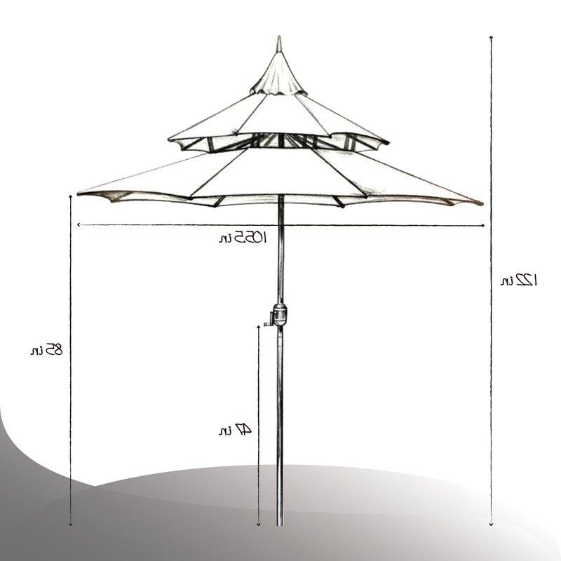 2018 Iyanna Market Umbrellas Throughout Iyanna 9' Market Umbrella (View 2 of 25)