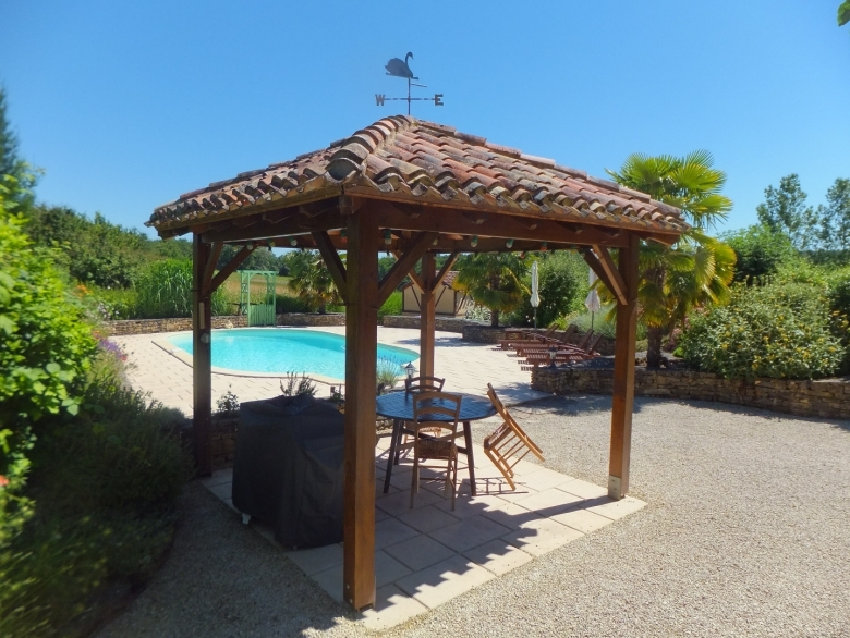 2018 Les Brugues – Converted Barn Holiday Rental, In Monpazier, Dordogne For Brame Market Umbrellas (View 22 of 25)