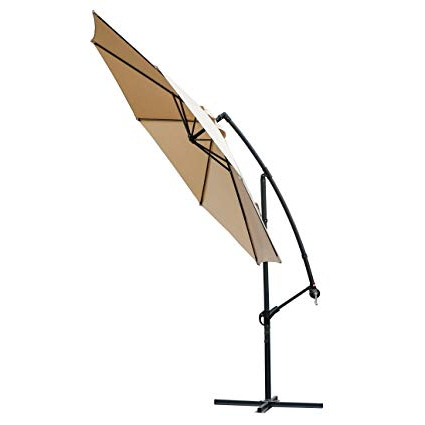 2018 Lytham Cantilever Umbrellas Regarding Farland Offset Umbrella 10 Ft Cantilever Patio Umbrella Outdoor Market  Umbrellas With Cross Base (Beige) (View 11 of 25)