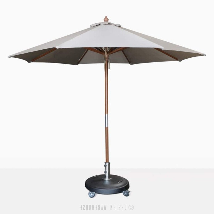 2018 Market Umbrellas intended for Dixon Market Olefin Round Umbrella (Grey)