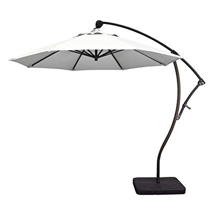 2018 Phat Tommy 9 Ft Cantilever Offset Aluminum Market Patio Umbrella With Tilt  – For Shade And Outdoor Living, White with regard to Phat Tommy Cantilever Umbrellas