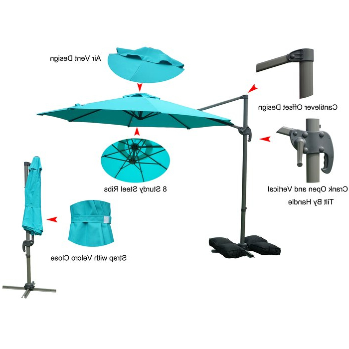 2018 Tottenham Patio Hanging Offset 10' Cantilever Umbrella pertaining to Tottenham Patio Hanging Offset Cantilever Umbrellas