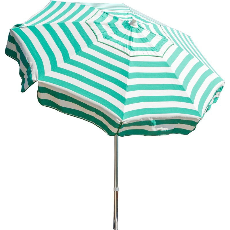 6 Ft Jade Green White Stripe Drape Umbrella Manual Lift With Tilt In Current Italian Drape Umbrellas (Gallery 18 of 25)