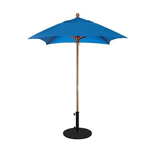 6' Wood Market Umbrella – Deluxe Hardwood Pertaining To Most Recent Market Umbrellas (Gallery 14 of 25)