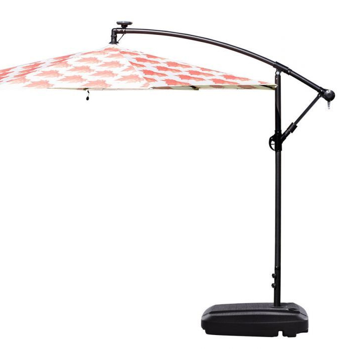 60L Plastic Weighted Fill Water Sand Wheel Patio Umbrella Base Intended For Most Recent Yajaira Cantilever Umbrellas (Gallery 24 of 25)