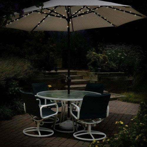72 Led Premium Solar Parasol Lights With Most Popular Venice Lighted Umbrellas (View 11 of 25)