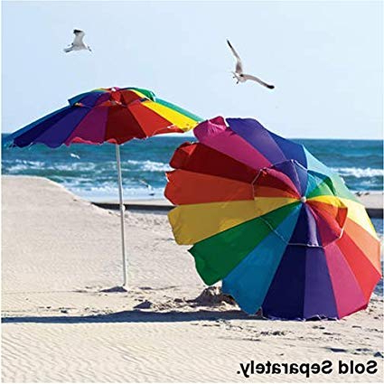 8' Beach Umbrella With Carry Bag – Towa Umbrella For Most Recent Beach Umbrellas (Gallery 1 of 25)
