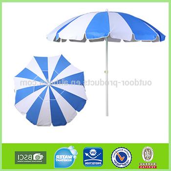 8 Foot Heavy Duty Beach Umbrellas Upf100+ With Tilt - Blue/white  Alternating Panel - Buy Beach Umbrella,8Ft Beach Umbrella,umbrella With  Tilt Product intended for Recent Tilt Beach Umbrellas