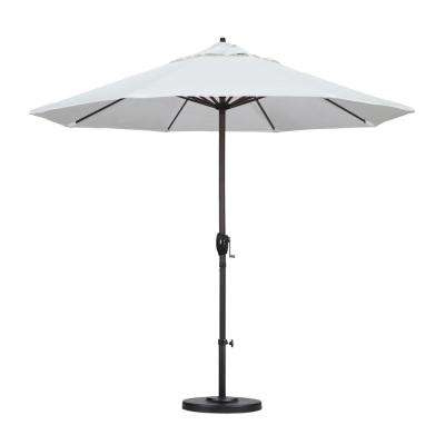 9 Ft. Aluminum Auto Tilt Patio Umbrella In White Olefin Pertaining To Fashionable Market Umbrellas (Gallery 6 of 25)