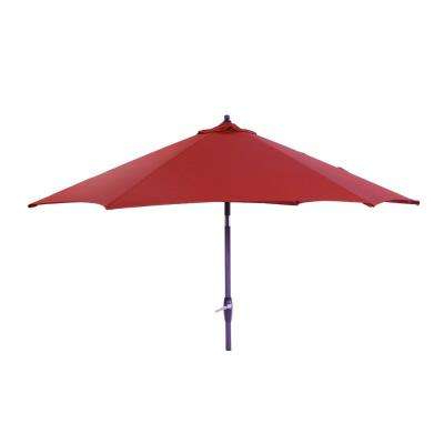 9 Ft. Aluminum Market Tilt Patio Umbrella In Cushionguard Chili Intended For Latest Iyanna Market Umbrellas (Gallery 19 of 25)