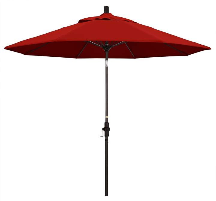9 Ft. Sun Master Red Sunbrella Patio Umbrella With Regard To Best And Newest Mullaney Market Sunbrella Umbrellas (Gallery 17 of 25)