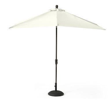 9' Round Market Umbrella Canopy Replacement - Outdoor Canvas, Ink with Latest Crowborough Square Market Umbrellas