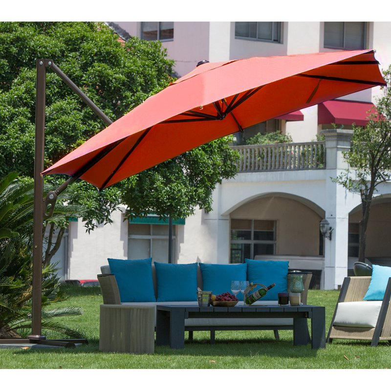 9' Square Cantilever Umbrella regarding Preferred Windell Square Cantilever Umbrellas