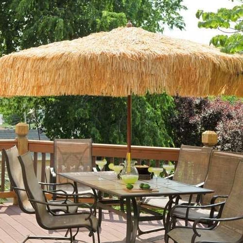 9' Tropical Patio Umbrella (Gallery 6 of 25)