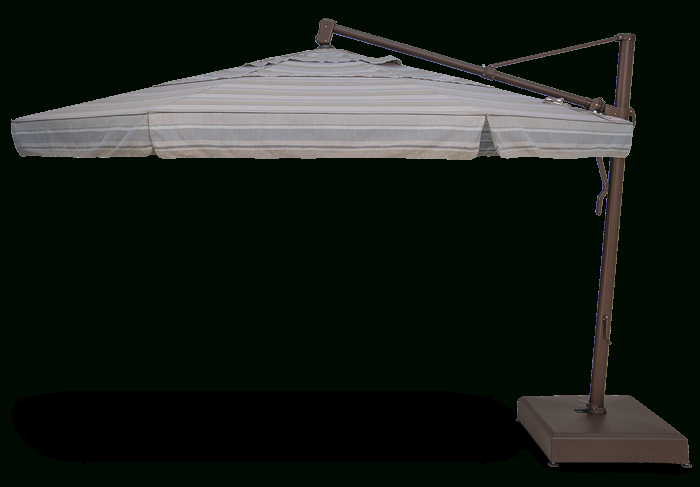 Akz13 Cantilever With Newest Lennie Cantilever Sunbrella Umbrellas (View 12 of 25)