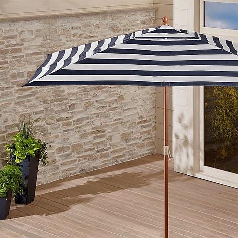 Alexander Elastic Rectangular Market Sunbrella Umbrellas Throughout Best And Newest 10 Foot Rectangular Umbrellas (View 17 of 25)