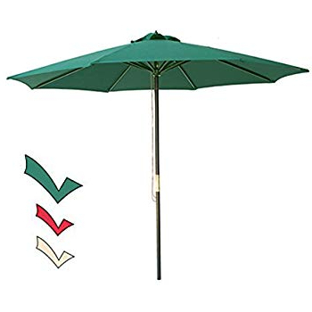 Amazon : 9' Red Patio Umbrella – Outdoor Wooden Market Umbrella In 2018 Docia Market Umbrellas (View 2 of 25)