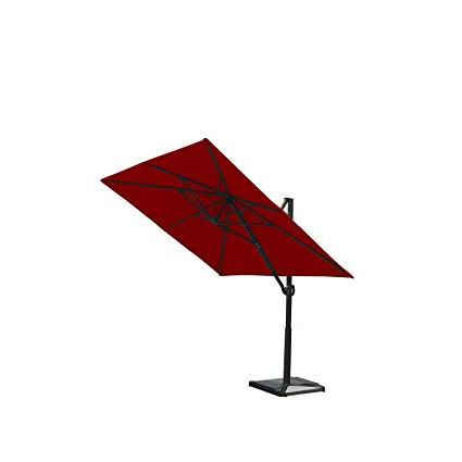 Amazon: Abba Patio 8 X 10 Feet Rectangular Cantilever Umbrella In Latest Fordwich  Rectangular Cantilever Umbrellas (View 16 of 25)