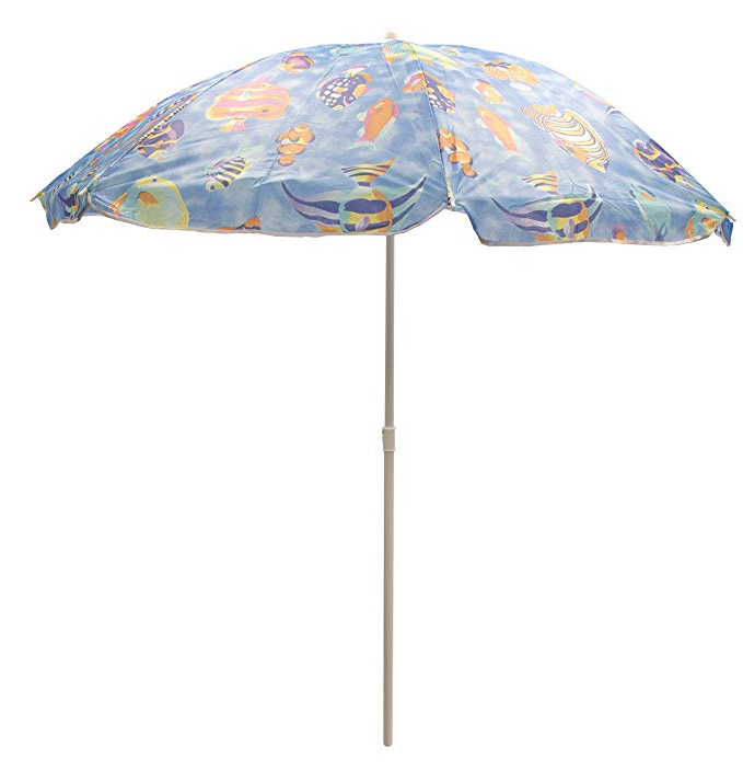 Amazon: Beach Umbrellas – Sol Summer Shade (Fish Bowl Blue For Most Recent Hyperion Market Umbrellas (View 20 of 25)