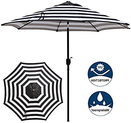 Amazon : Blissun 9' Outdoor Aluminum Patio Umbrella, Market For Widely Used Crediton Market Umbrellas (View 21 of 25)
