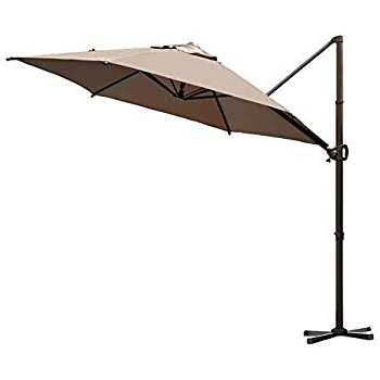 Amazon : Cobana 10' Cantilever Freestanding Patio Umbrella In 2017 Karr Cantilever Umbrellas (View 3 of 25)