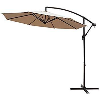 Amazon : Cobana 10' Cantilever Freestanding Patio Umbrella Intended For 2017 Karr Cantilever Umbrellas (View 22 of 25)