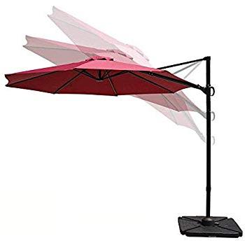 Amazon : Cobana 10Ft Cantilever Offset Patio Umbrella With With Regard To Latest Cockermouth Rotating Cantilever Umbrellas (View 9 of 25)
