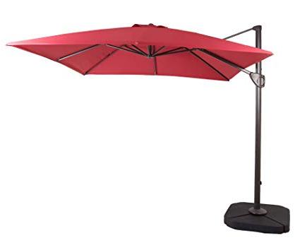 Amazon : Domi Outdoor Living 1010 Feet Square Cantilever Regarding Latest New Haven Market Umbrellas (View 3 of 25)