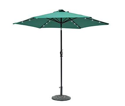 Amazon: Edenbranch 9' Round Solar Lighted Umbrella – 6 Rib With Regard To Widely Used Woll Lighted Market Umbrellas (View 4 of 25)