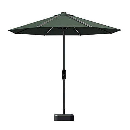 Amazon : Hanergy 9Ft Solar Powered Led Light Patio Umbrella With Intended For Trendy Hurt Market Umbrellas (View 13 of 25)