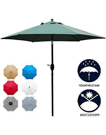 Amazon In Wiechmann Push Tilt Market Sunbrella Umbrellas (View 3 of 25)