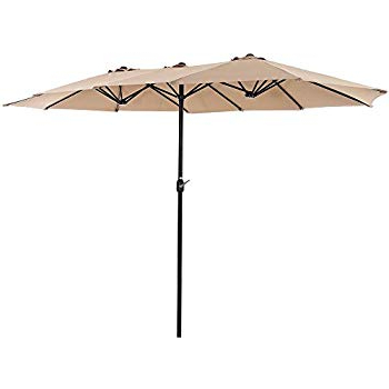 Amazon : Iwicker 15 Ft Double Sided Patio Umbrella Outdoor Pertaining To Fashionable Iyanna Cantilever Umbrellas (View 2 of 25)