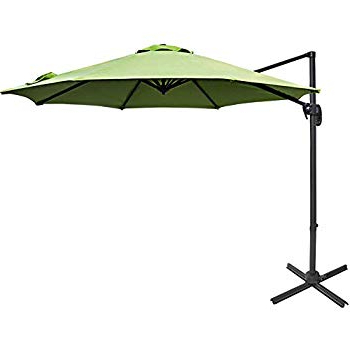 Amazon : Le Papillon 10 Ft Cantilever Umbrella Outdoor Offset Inside Most Current Voss Cantilever Sunbrella Umbrellas (View 9 of 25)