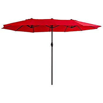 Amazon : Le Papillon 15 Ft Market Outdoor Umbrella Double Sided With Regard To Current Lagasse Market Umbrellas (View 11 of 25)