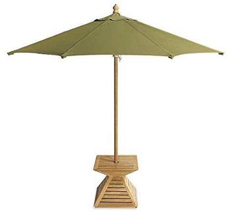 Amazon : New Grade A Teak Wood Umbrella Stand / Base / Cover In Best And Newest Jendayi Square Cantilever Umbrellas (View 22 of 25)