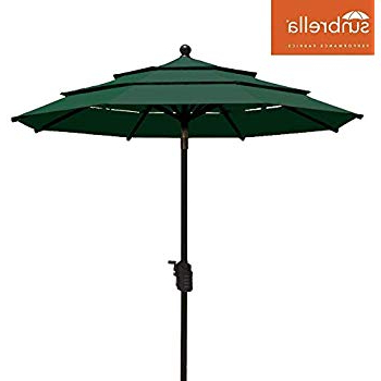 Amazon : Oxford Garden Sunbrella 10 Foot Rectangular Market For Recent Fordbridge Rectangular Market Umbrellas (View 12 of 25)