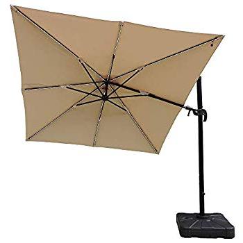 Amazon : Santorini Ii 10 Ft Square Cantilever Umbrella In Beige Throughout Favorite Spitler Square Cantilever Umbrellas (View 3 of 25)