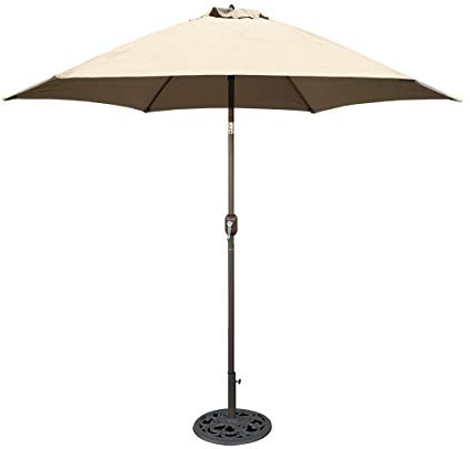 Amazon : Tropishade 9 Ft Bronze Aluminum Patio Umbrella With For Preferred Kearney Market Umbrellas (View 10 of 25)