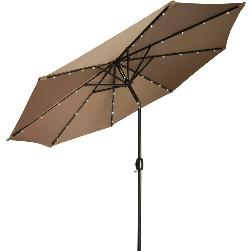 Annabelle Market Umbrellas For Most Recently Released Woll 9' Lighted Market Umbrella (View 23 of 25)