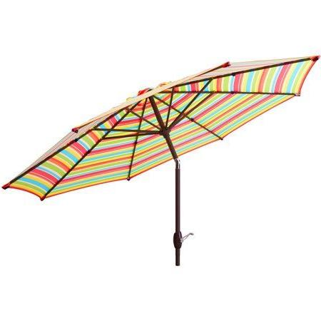 Annika Market Umbrellas Throughout Current Mainstays 9' Market Umbrella – Walmart (View 13 of 25)
