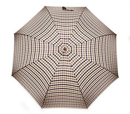 Aquascutum Stick Umbrella Scozzese Intended For Most Recent Hettie Solar Lighted Market Umbrellas (View 23 of 25)