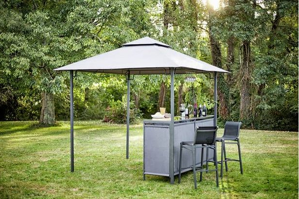 Argos Is Selling A Gazebo With A Built In Bar With Massive Discount Within Most Recently Released Monty Half Market Umbrellas (View 2 of 25)