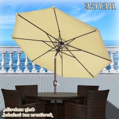 Artrip Market Umbrellas In Well Liked Darby Home Co Rosaura Traditional Octagonal Outdoor Garden Parasol (View 25 of 25)