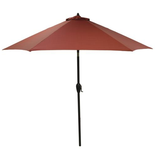 Backyard Creations™ 9' Ashland Solid Patio Market Umbrella At Menards® With Most Recently Released Solid Market Umbrellas (View 7 of 25)